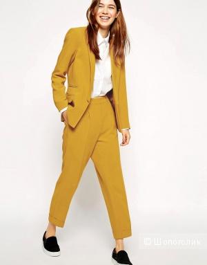 Горчичные брюки с высокой талией ASOS