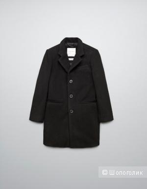Пальто для мальчика шерстяное, новое, Zara, 7-8 лет, рост 128/134