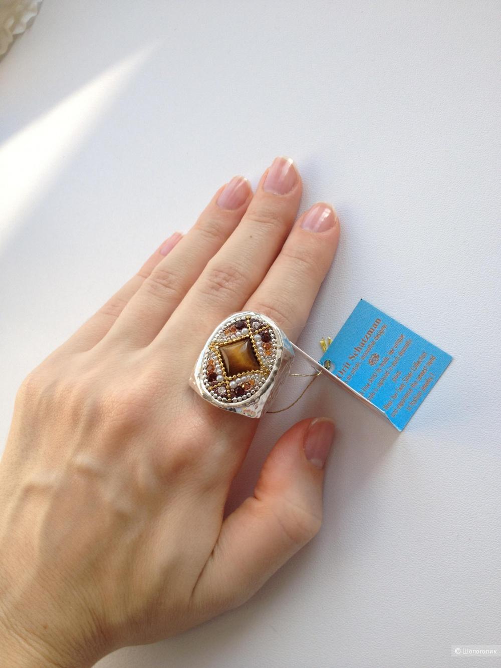 Коктейльное кольцо Orit Schatzman , серебро