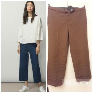 Massimo Dutti: хлопковые брюки-кюлоты с подворотами