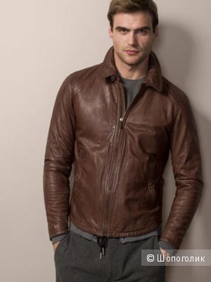 Мужская кожаная куртка Massimo Dutti