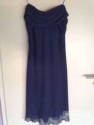 Темносинее платье zero размер s