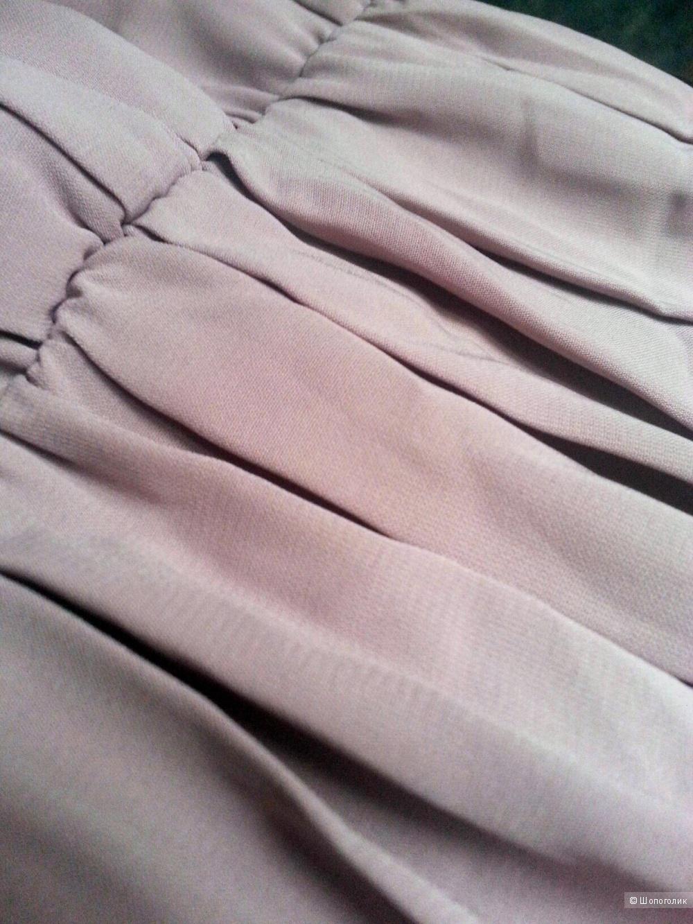 Asos розово-лиловое миди-платье с драппировкой, S