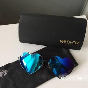Новые солнцезащитные зеркальные очки в форме сердца WILDFOX  невероятного синего оттенка