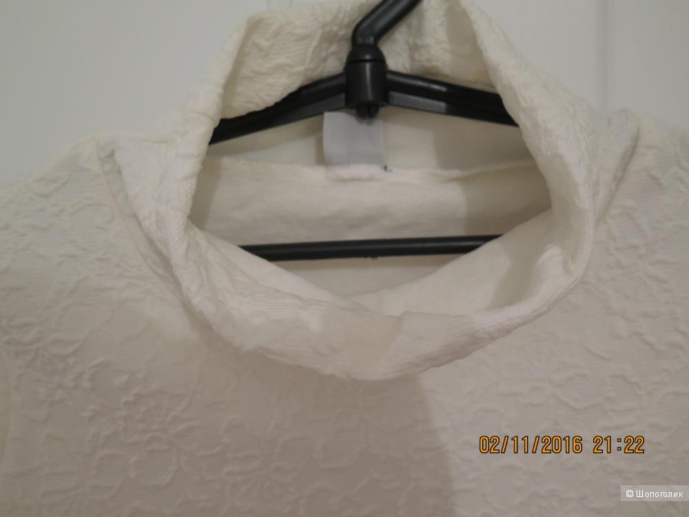 Блуза белая, размер 48