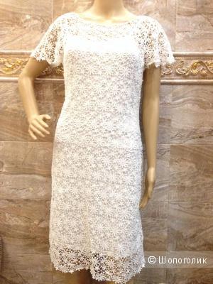 Ralph Lauren шикарное платье из ажурного вязаного кружева р. 46