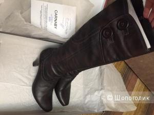 Демисезонные кожаные сапоги Carnaby