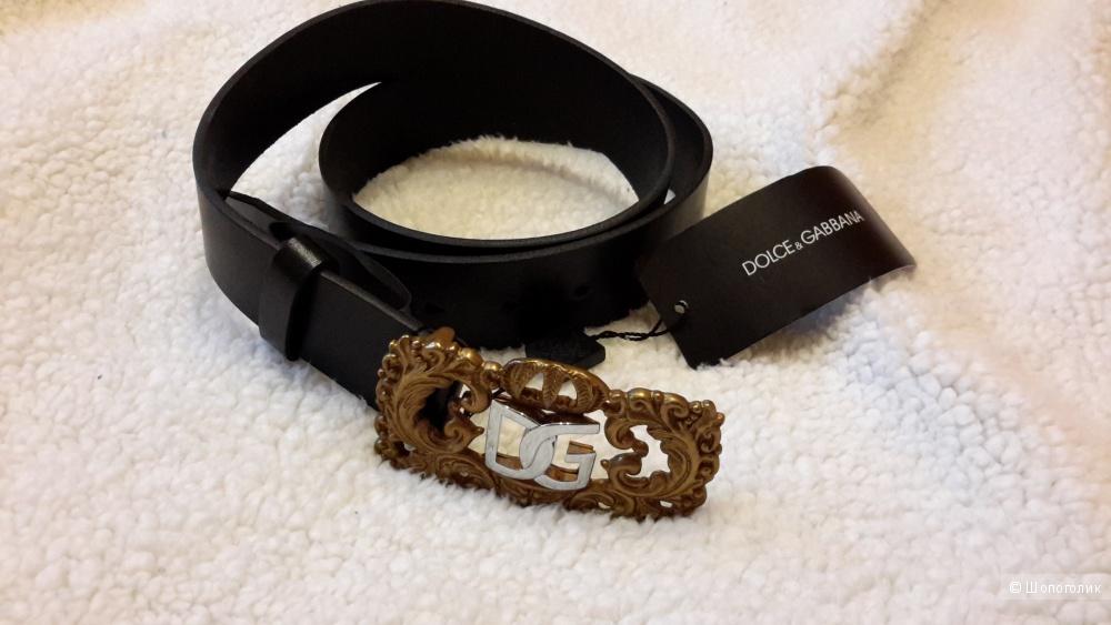 Ремень Dolce&Gabbana новый кожа размер 100 цвет черный