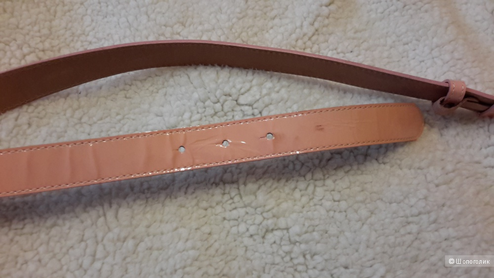 Ремень Gucci розовый лак оригинал размер 100 кожа