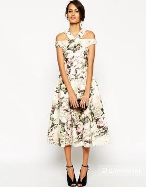 Роскошное цветочное платье миди ASOS