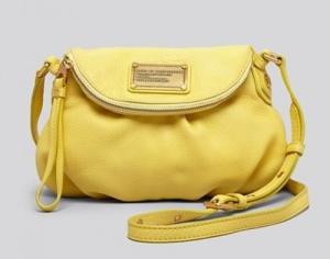 Желтая сумка Classic Q Mini Natasha от Marc by Marc Jacobs