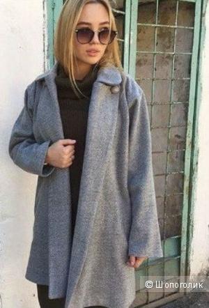 Пальто бойфренд-трансформер шерстяное,размер S(подойдет и на M-L)