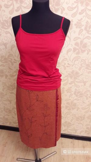 BGN first: полушерстяная юбка с запАхом, евро 38