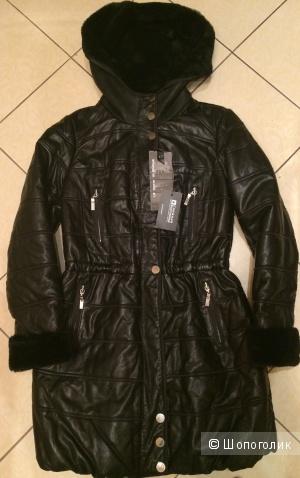 Куртка La Reine Blanche из 100% натуральной кожи с овчиной.