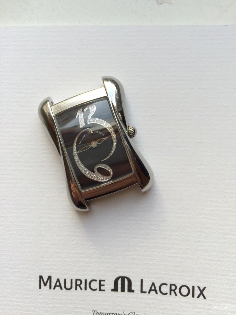 Кварцевые часы Maurice Lacroix. Коллекция Divina, украшена  28 бриллиантами (0.152 К).