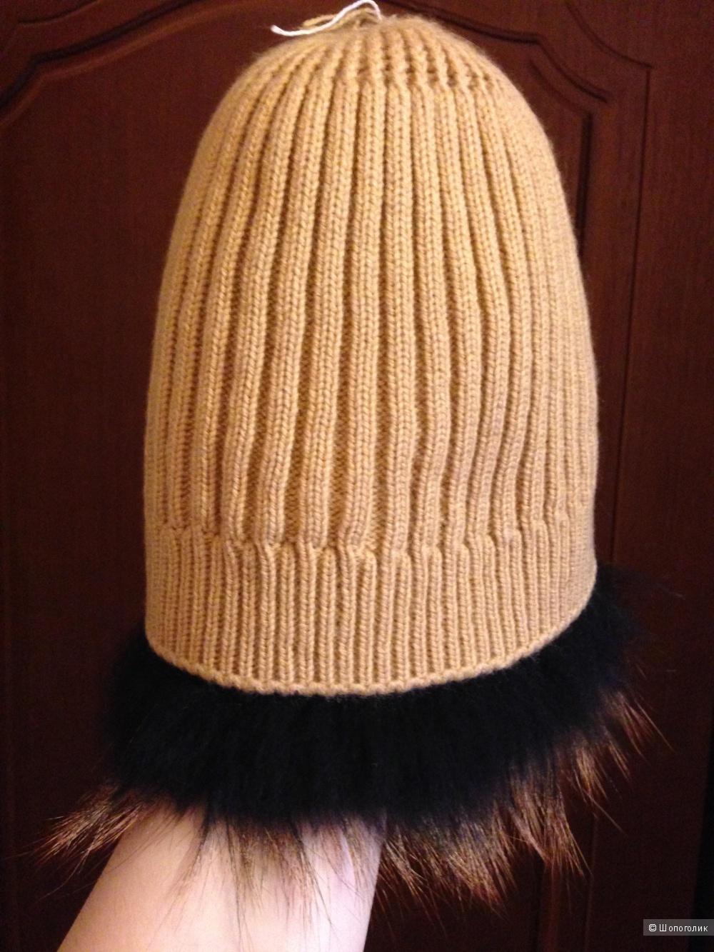 Новая зимняя  шапка из чернобурки.