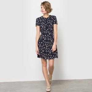 """Платье La Redoute, черное с принтом """"балерины"""", 38 (франц) размер"""