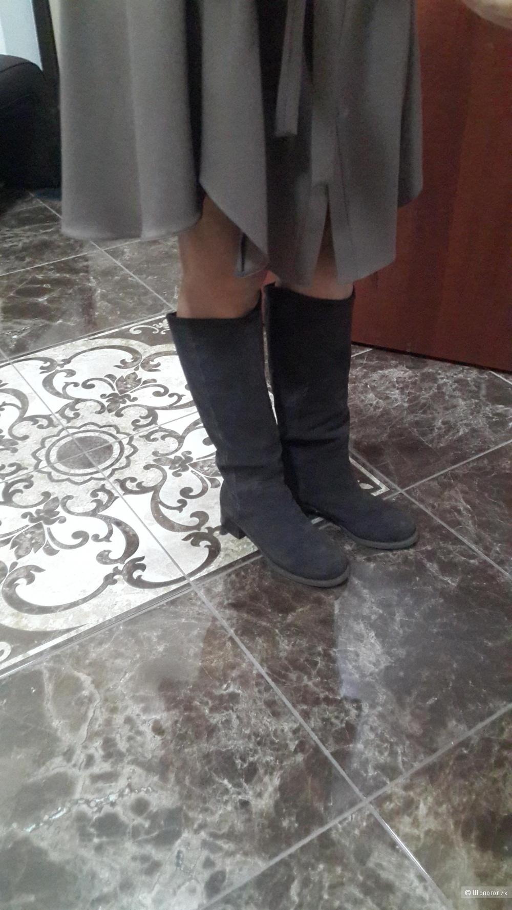 Кожаные крутые сапоги Calvin Klein Jeans 7.5 us