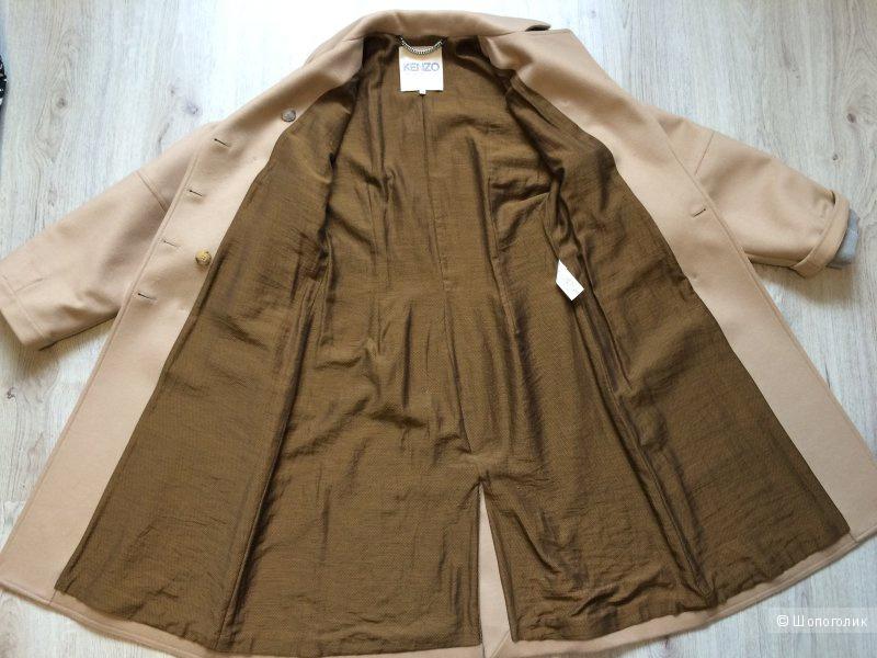 Пальто демисезонное Kenzo размер 38eu бежевого цвета