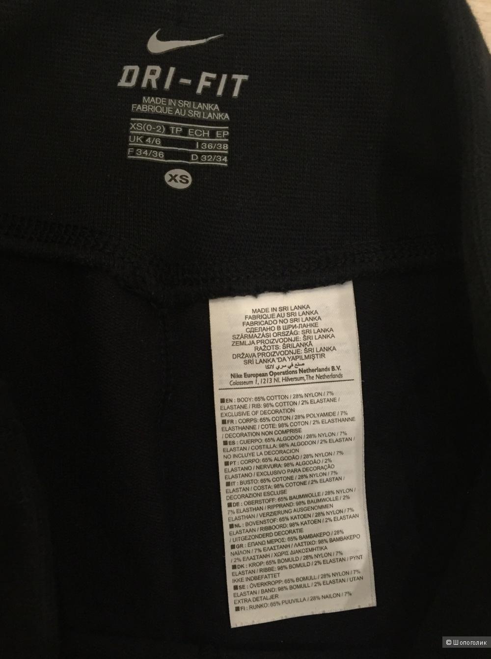 Спортивные брюки nike черные размер xs