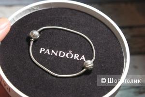 Серебряный браслет Pandora Essence + шарм Здоровье