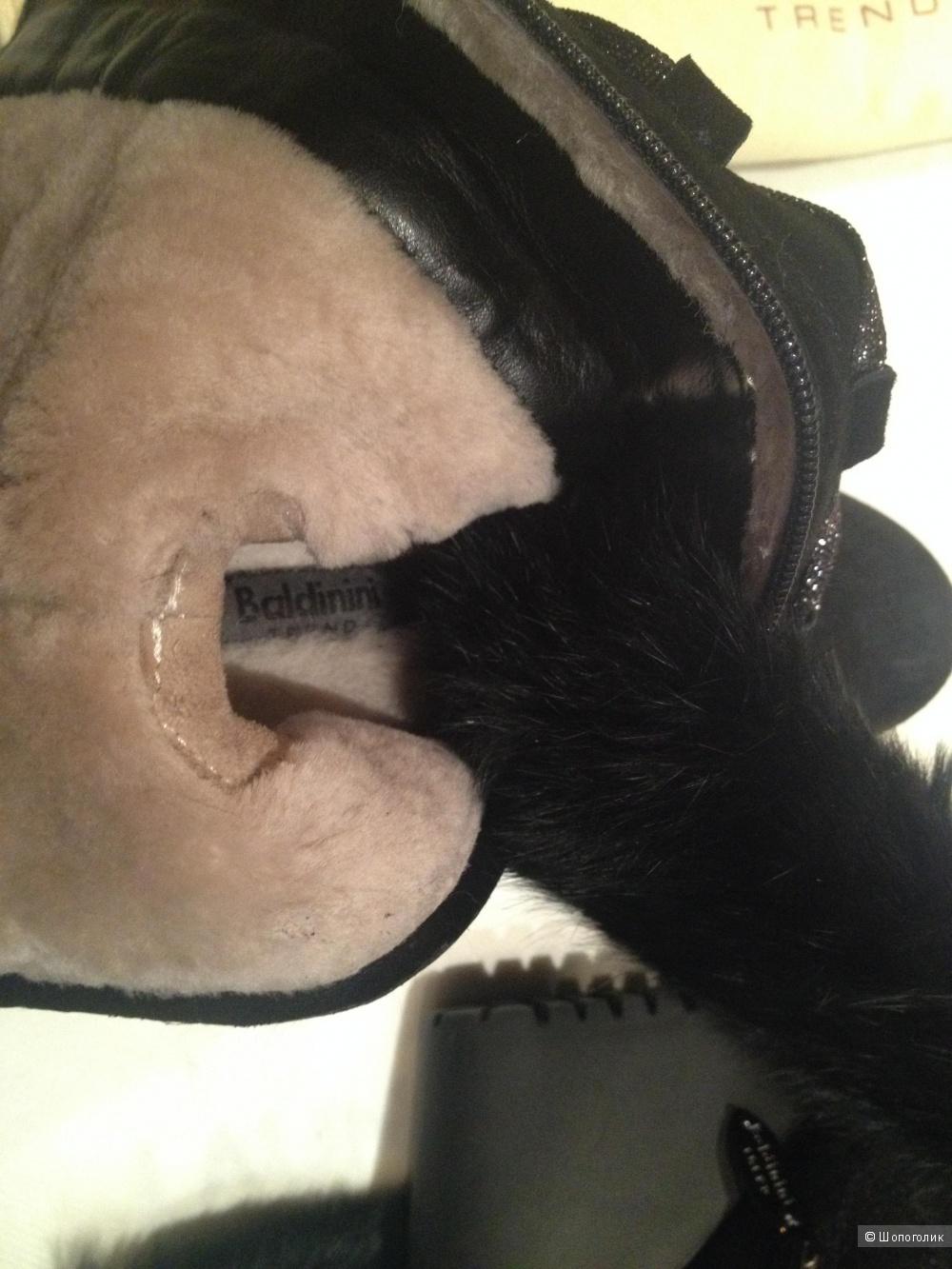 Новые зимние замшевые сапоги Baldinini 36 размер