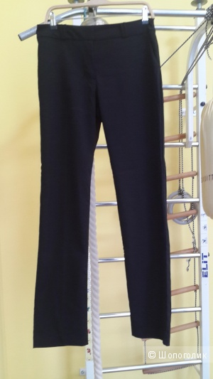 Брюки Love Republic черные 44-46 размер, прямые, со стрелками, классно на фигуре