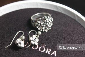 Кольцо и серьги Pandora
