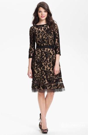 Шикарное платье от Tadashi Shoji из ажурного кружева р.46+ или 48 с ценником 348$