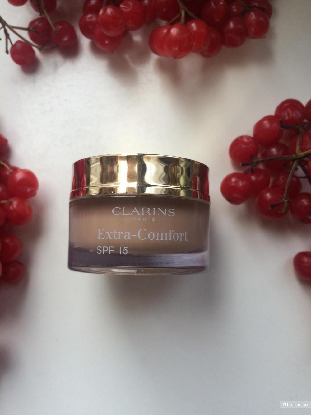 Оригинальный тестер Тональный крем Clarins Extra Comfort объём 10 ml оттенок 110 honey.