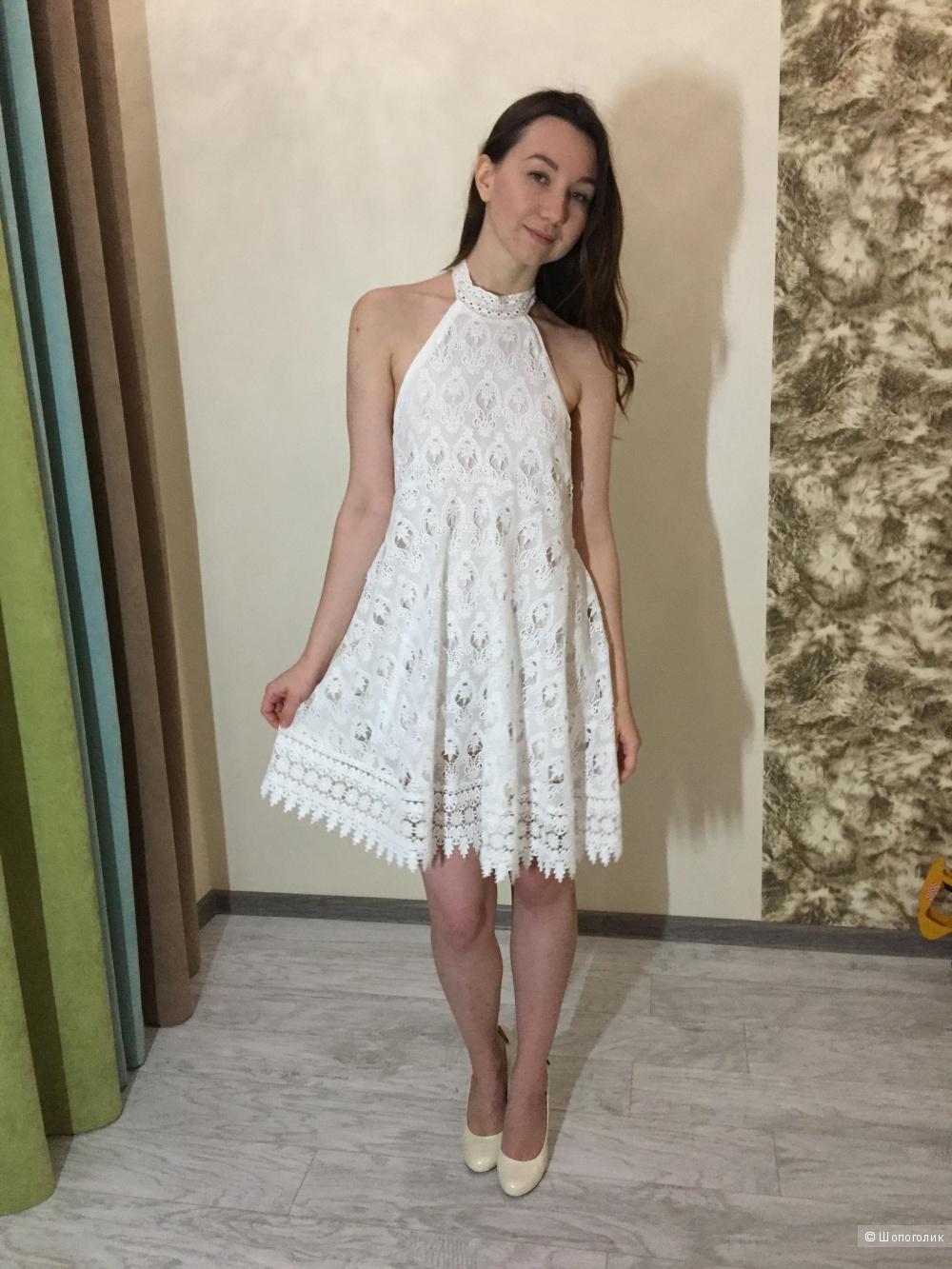 Шикарное белое платье Love Republic, новое, р 46