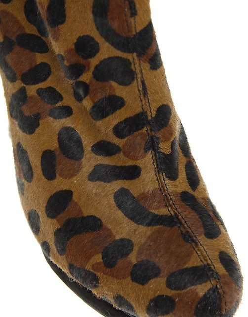 Ботинки ASOS ALTO Leather Animal Print Effect. Р-р 36-36,5.