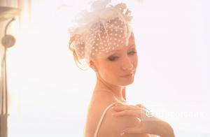 Вуалетка от дизайнера Oksana Mukha, цвет айвори, возможен прокат В Крыму
