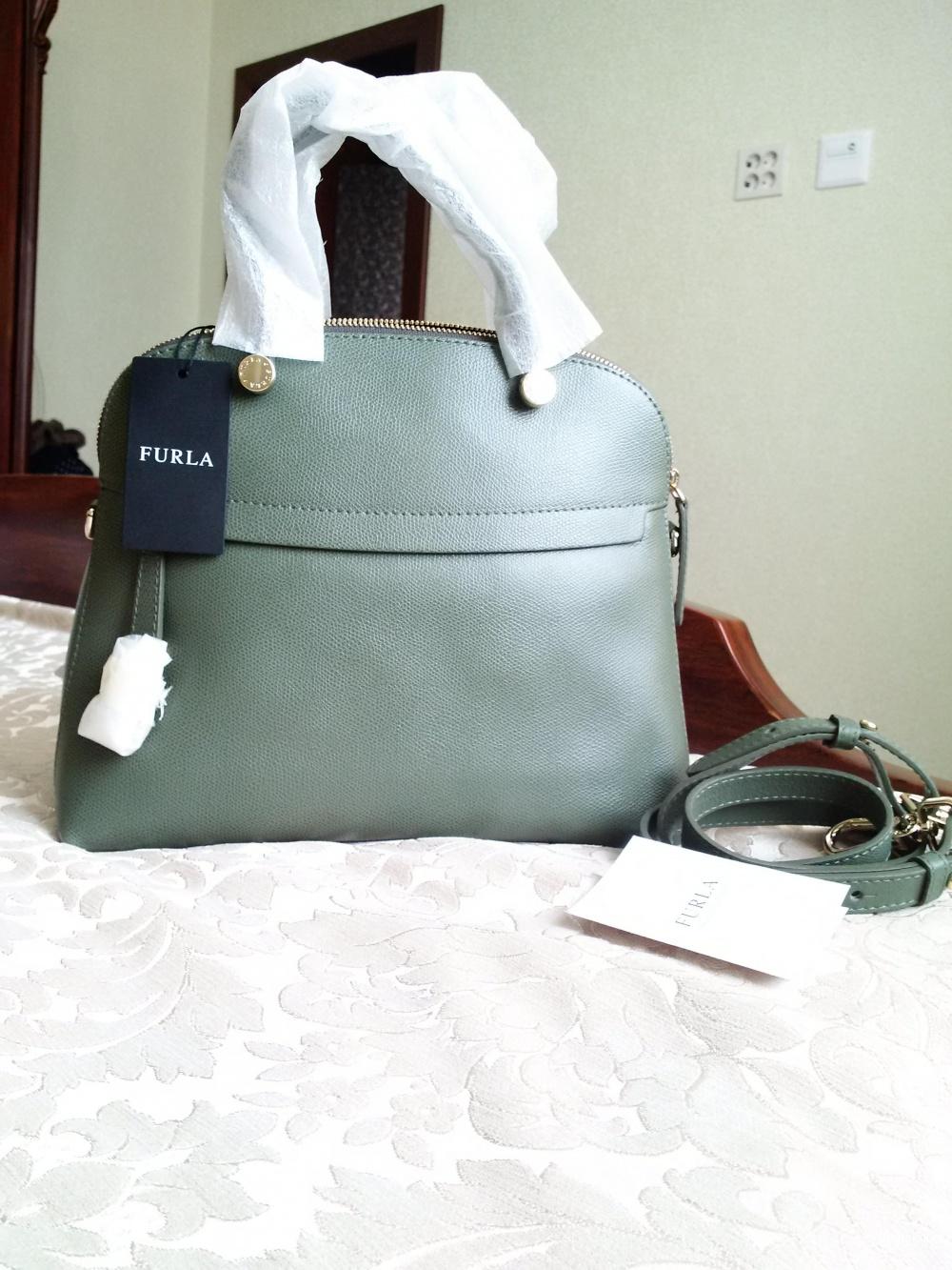 Furla Piper новая сумка натуральная кож цвет хаки