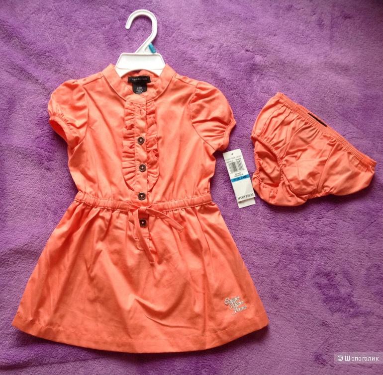 Новое Calvin Klein Оригинал 24м платье и трусики