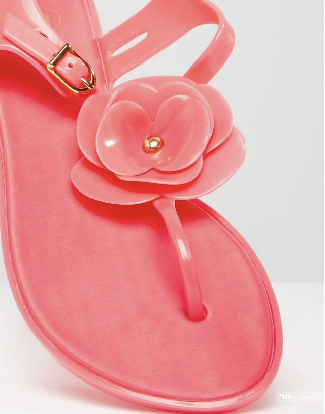 Сандалии с Т-образным ремешком и цветами Mel By Melissa розовые 38 размер новые оригинал