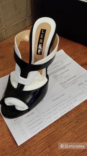 Брендовые кожаные босоножки LERRE 35,5 размера оригинал