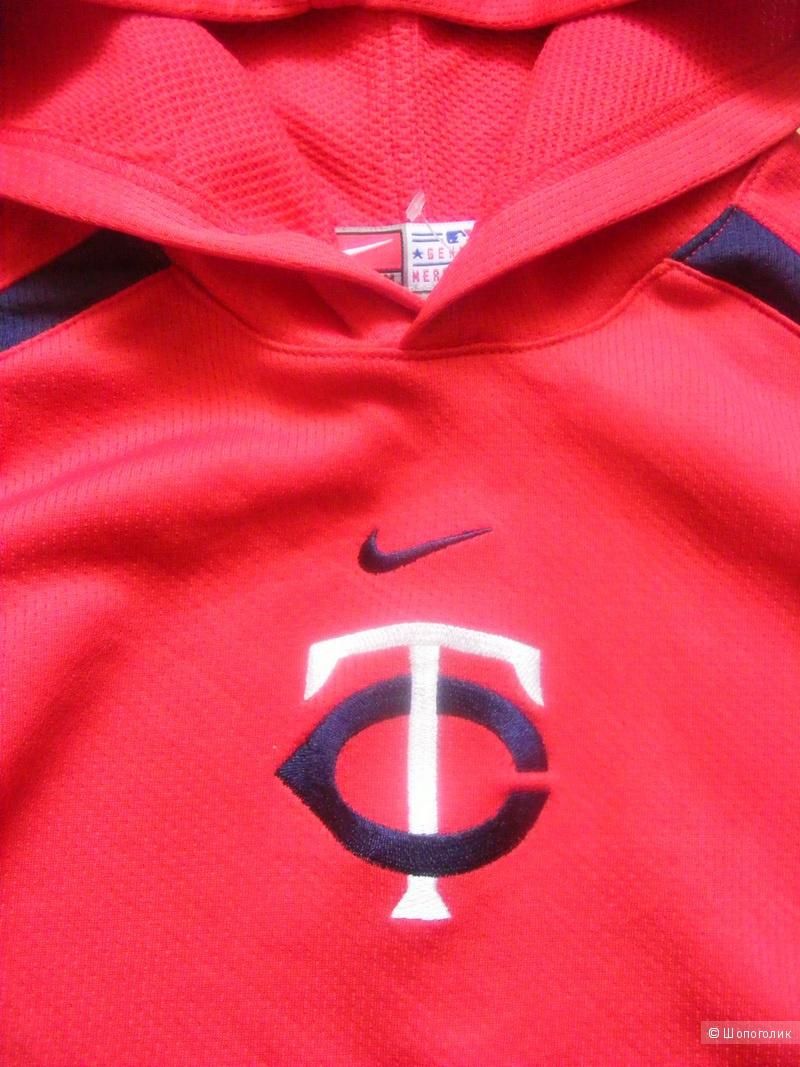 Худи - толстовка спортивная с капюшоном красная NIKE 44-46 размер