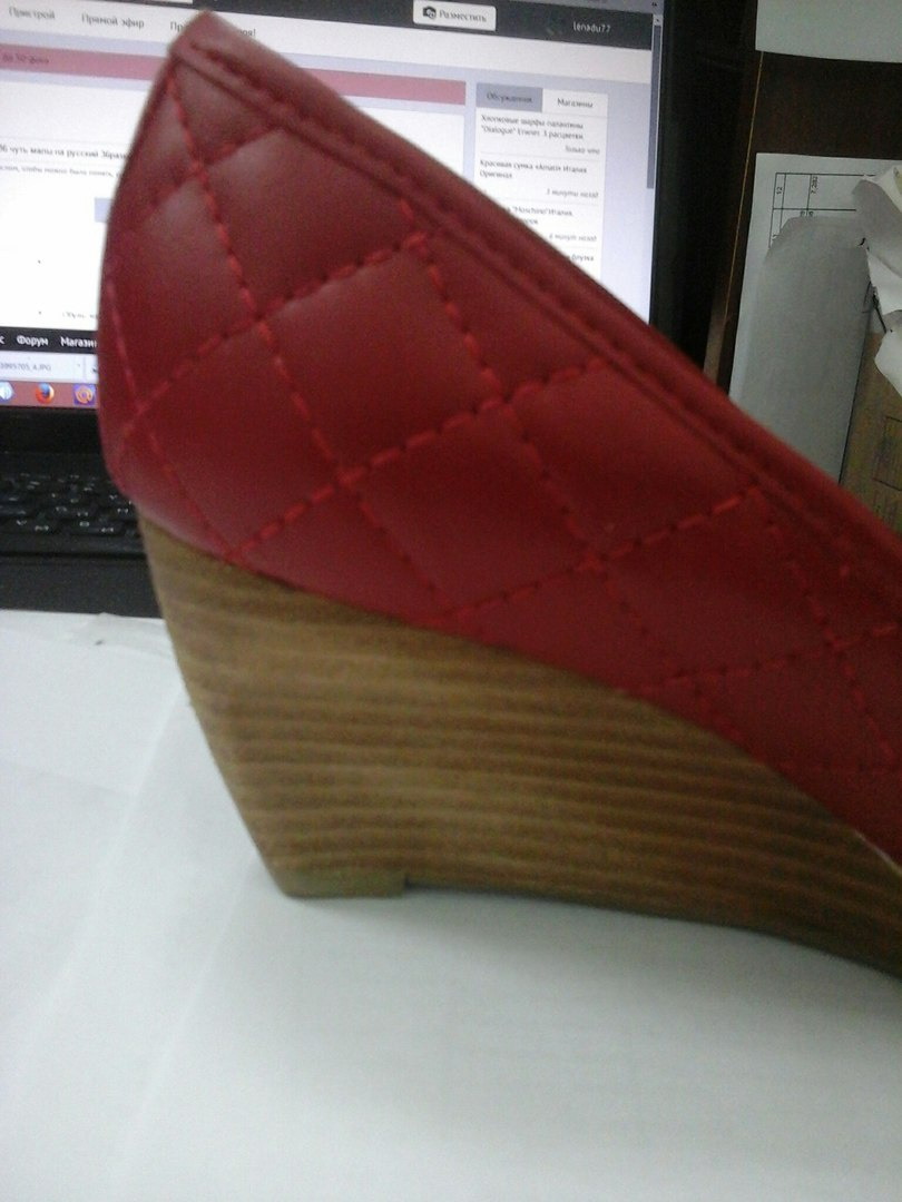 Новые красные туфли ALBA из натуральной кожи  р.36 чуть малы на русский 36размер