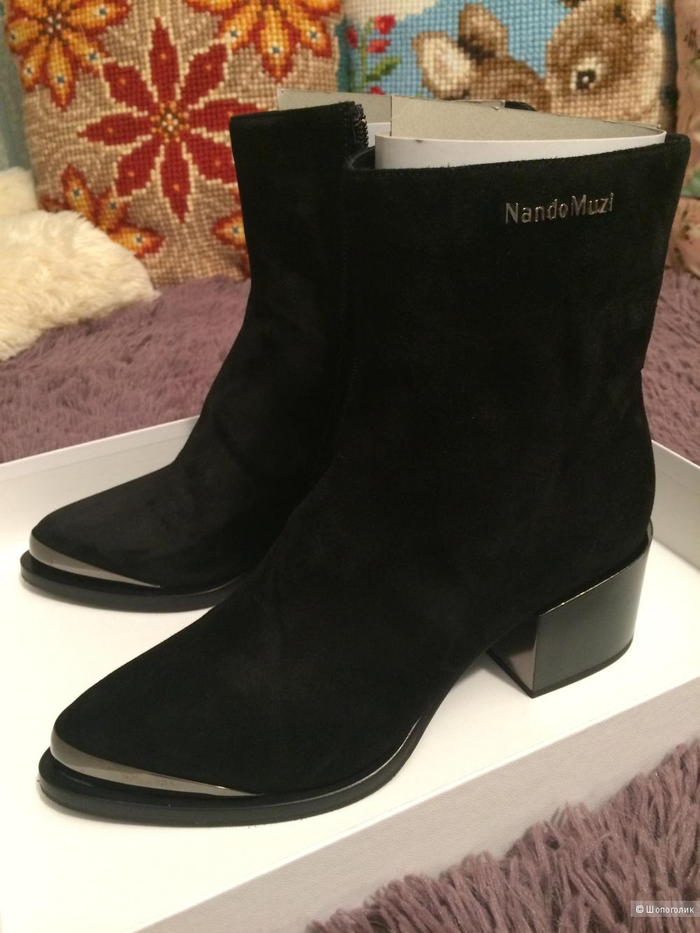 Новые ботинки замша на меху ф.NANDO MUZI 37 разм