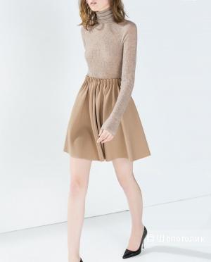 Бежевая базовая юбка Zara