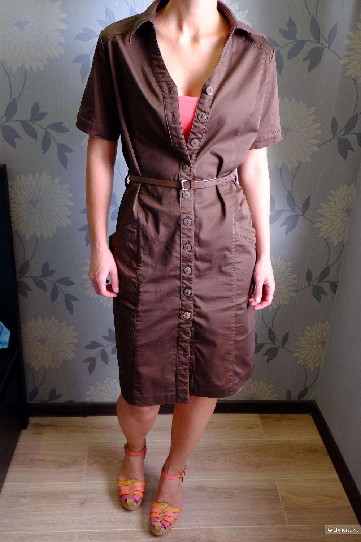 Два в одном: платье-хаки и плащ WoolStreet