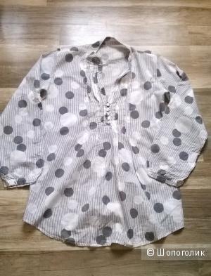 Рубашка - блузка - туника 46-48 размер хлопок