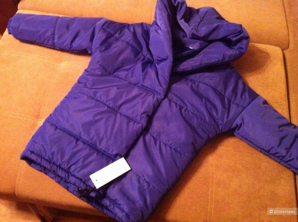 Курточка зефирка василькового цвета , 44 размера, абсолютно новая!