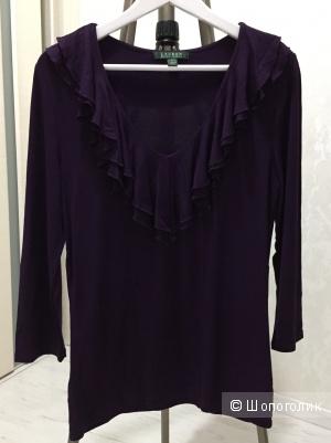 Топ с рукавом 3/4 Lauren by Ralph Lauren из вискозы, фиолетовый