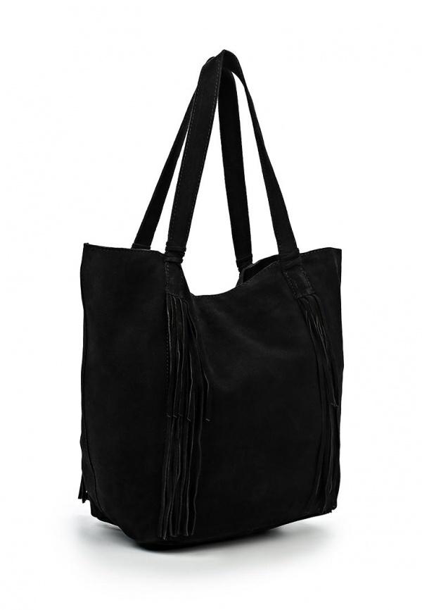 Замшевая сумка Mango с бахромой