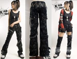 Брюки-трансформеры неформального бренда Punk Rave размера S (M маломерка)