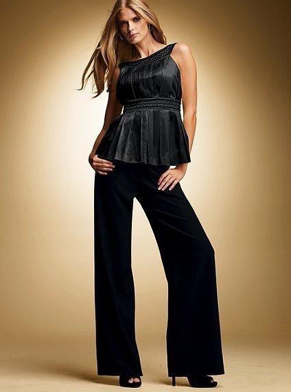 Широкие шерстяные брюки Victoria's Secret, р-р 0 (42). Новые.