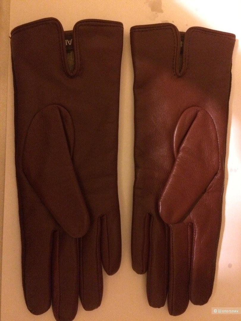 Перчатки Labbra  Кожа/велюр. Размер 6,5