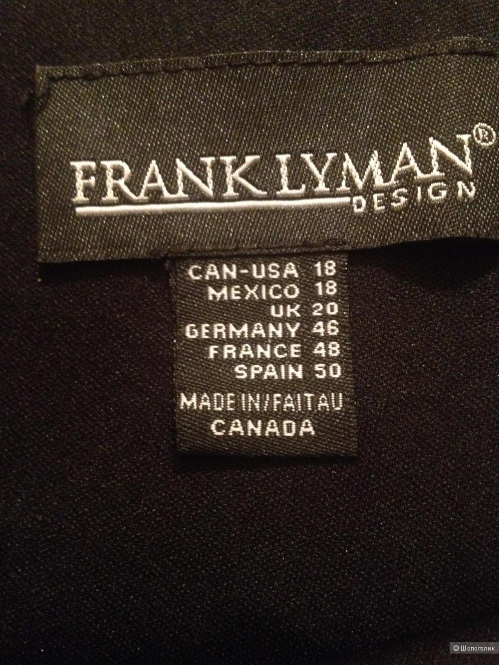 Коктейльное платье 52-54 размера Frank Lyman (Канада)  с кружевом цвета золота